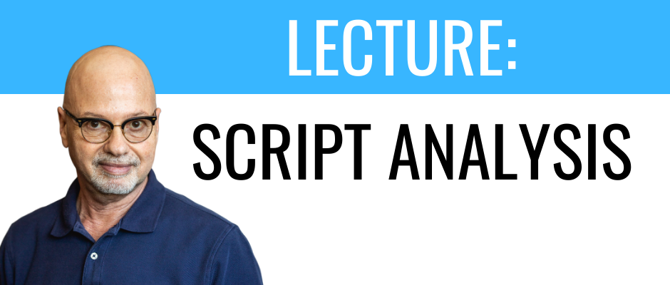 Online Acting Classes: Script Analysis